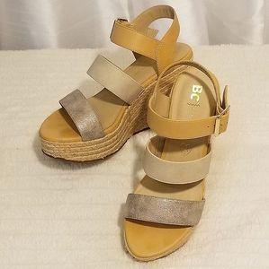 BC Born in California Wedge Sandals